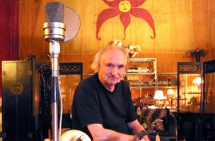 Holger Czukay in his studio on his 70th birthday